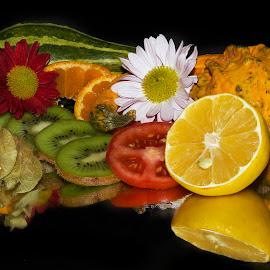 fruits,vegetables with flower by LADOCKi Elvira - Food & Drink Fruits & Vegetables
