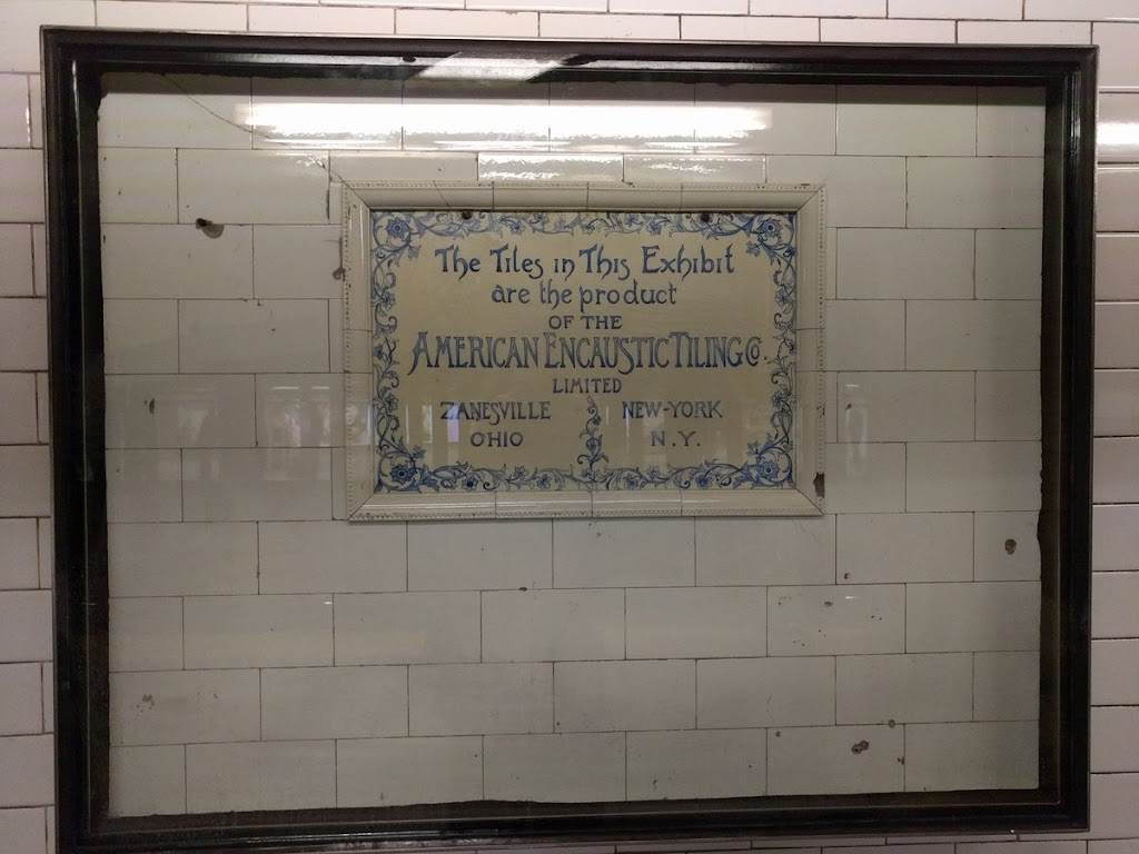 Uptown 1 train platform at Columbus Circle, New York City. Submitted by @lcdpowell