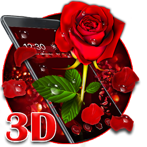 3D valentine love rose theme For PC