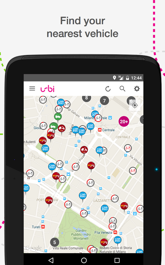 urbi - carsharing aggregator Screenshot 5