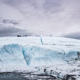 Glacier hiking by Rachna Niranjan - Landscapes Caves & Formations ( glacier, nature, alaska, matanuska, iceclimbers, landscape )