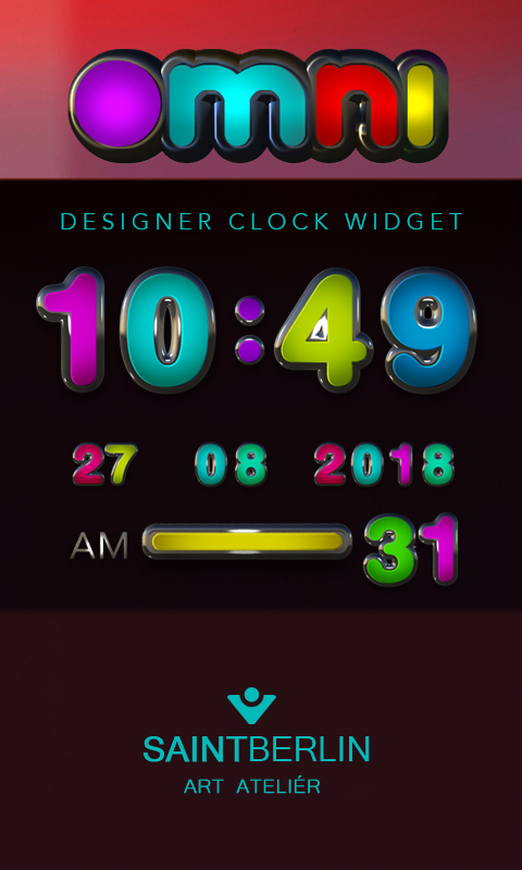 Omni Digital Clock Widget Screenshot 0