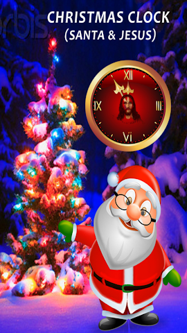 android Dancing Clock for Christmas Screenshot 1