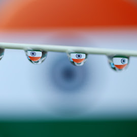 Indian flag by Lakshya Sharma - Abstract Water Drops & Splashes ( flags, independence day, india, indian, water drops,  )