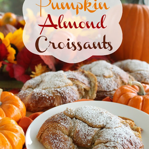 Pumpkin Almond Croissants
