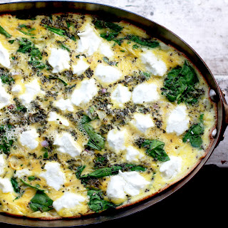 Rosemary, Goat Cheese, and Spinach Pan Frittata