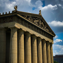 The Parthenon by Mary Phelps - Buildings & Architecture Public & Historical ( centennial park, nashville, tennessee, columns, parthenon, park, summer, architecture )