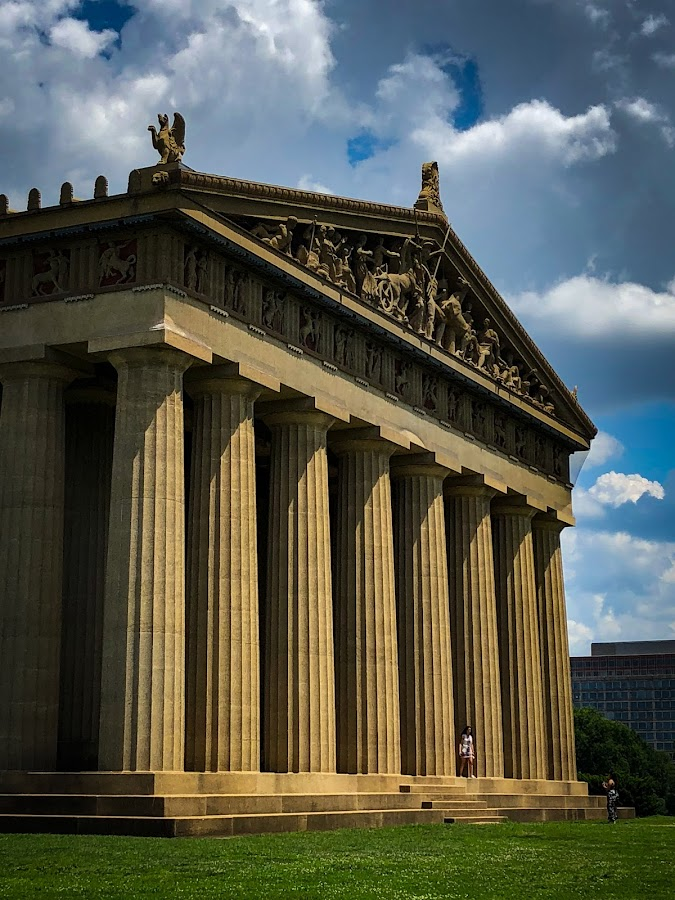 The Parthenon by Mary Phelps - Buildings & Architecture Public & Historical ( centennial park, nashville, tennessee, columns, parthenon, park, summer, architecture )