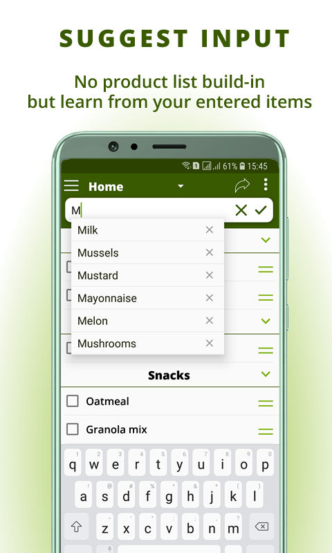 Grocery list: BigBag Pro Screenshot 1