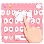 Pink lovely Kitty Keyboard Icon