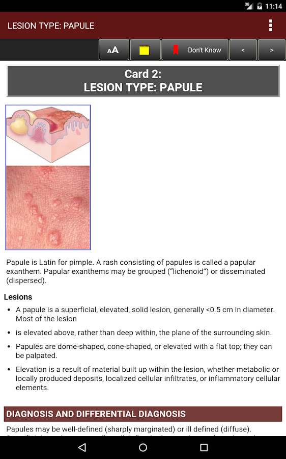 Fitzpatrick's Derm Flash Cards Screenshot 18