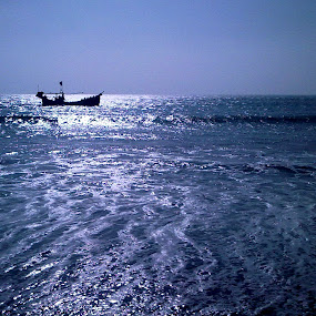 Down By The Seaside by Moin Ally - Instagram & Mobile Other ( water, nokia, sea, cox's bazar, beach, seaside, boat, vacation, bangladesh, express music, 5800, cell phone, mobile )