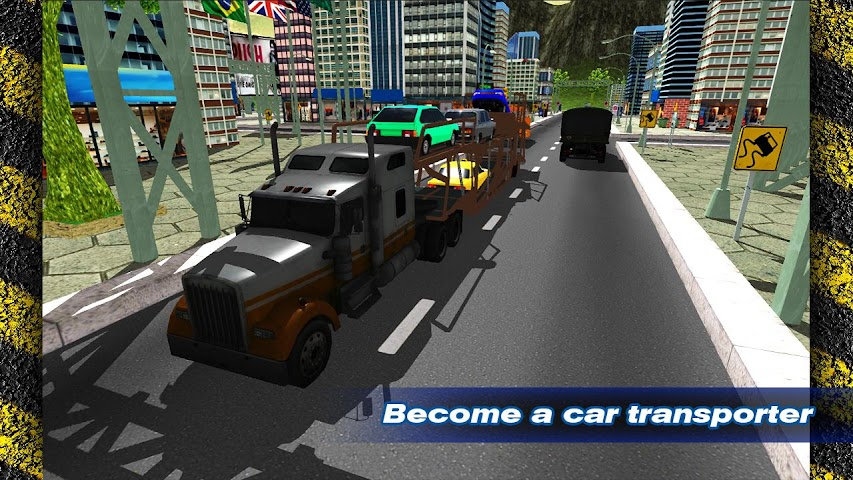 android Transporter Truck Trailer 3D Screenshot 0