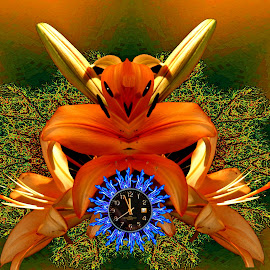 Time Keeper by Bob Welch - Digital Art Things ( abstract, creature, watch, flower )