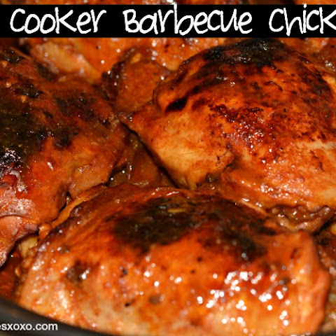 2 Ingredient Slow Cooker Barbecue Chicken