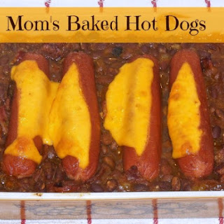 Mom's Baked Hot Dogs with Beans