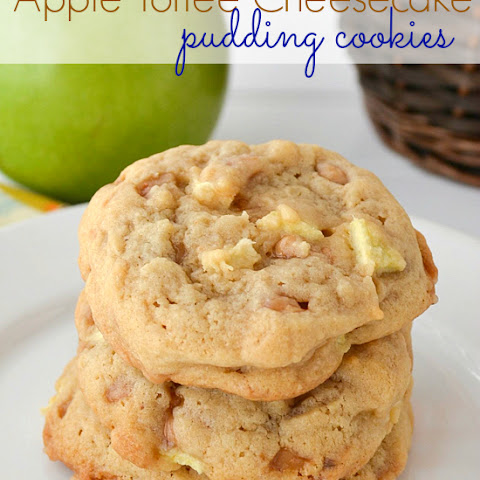 Toffee Apple Pudding Cookies