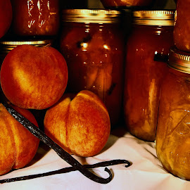 Yumm :)  by Abbey Gatto - Food & Drink Cooking & Baking ( peach preserve, preserves, food & drink, peaches, bourbon vanilla )