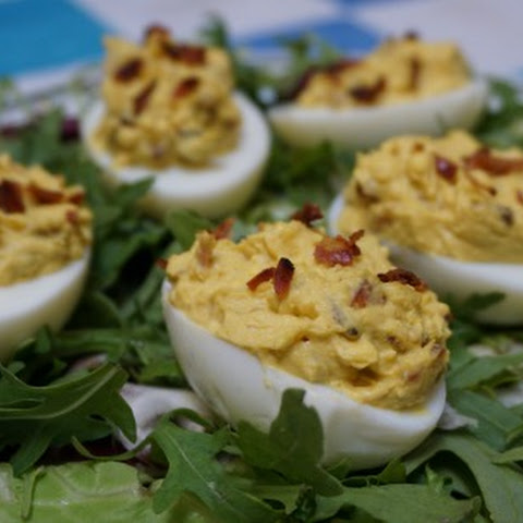 Stuffed Eggs with Bacon