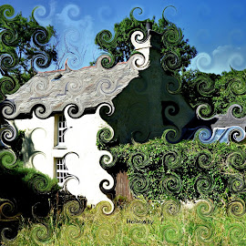 Curly Cottage by John Holloway - Abstract Patterns