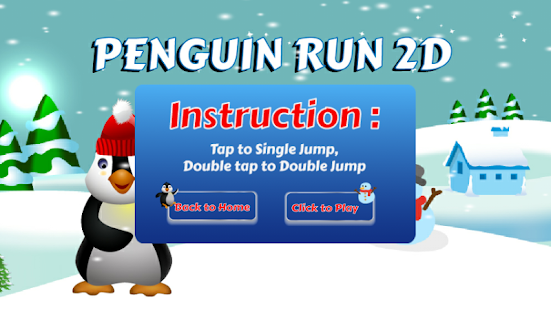 Penguin Run 2d - screenshot