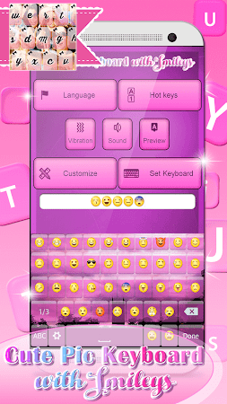 Cute Pic Keyboard with Smileys 3.0 screenshot 2090736