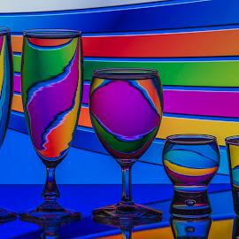 Eddy Maerten by Eddy Maerten - Artistic Objects Glass ( water, colorful )