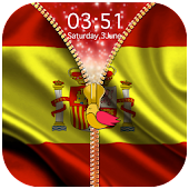 Spain Flag Zipper Lock Screen APK for Bluestacks