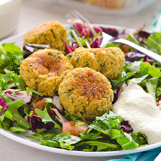 Clean Eating Quinoa Falafel with Tahini Sauce
