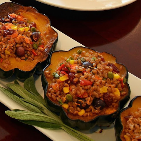 Roasted and Stuffed Acorn Squash