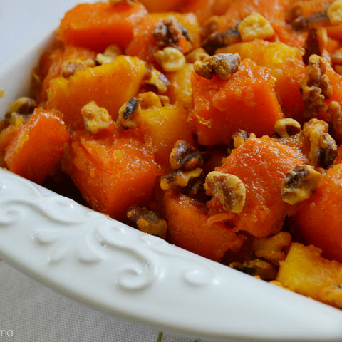 Glazed Sweet Potatoes with Toasted Walnuts