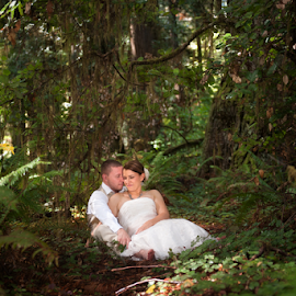 by Melissa Papaj - Wedding Bride & Groom ( wedding photography, oregon wedding, wedding, forest, wedding photographer, utah wedding photographer, redwood wedding, california wedding, destination weddings )