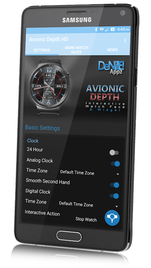Avionic Depth HD Watch Face Screenshot 11