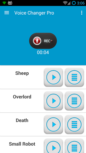 Voice Changer Pro Screenshot