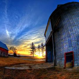 First Light in Elkorn by Derrill Grabenstein - Landscapes Sunsets & Sunrises