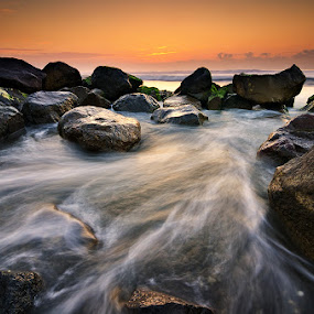 Rocks of Manyar by Eggy Sayoga - Landscapes Waterscapes ( water, waterscape, wave, sea, rock )