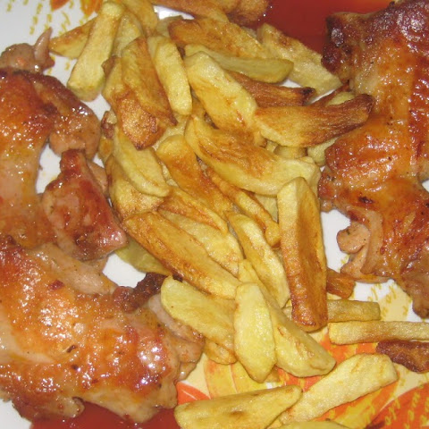 Chicken With French Fries