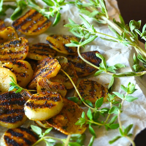 Herb-Grilled Elephant Garlic