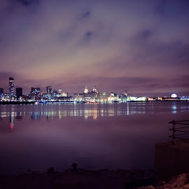 Liverpool by Carla Michelle - City,  Street & Park  Skylines ( england, uk, skyline, night photography, great britain, night scene, liverpool, wirral, capital of culture, united kingdom, britain, city )
