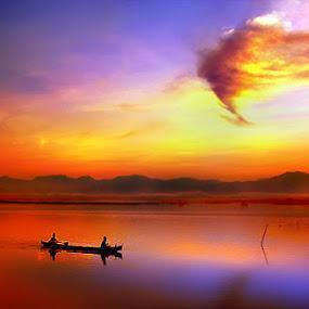 Sunset by Irwan Karim - Landscapes Sunsets & Sunrises ( garyfonglandscapes, holiday photo contest, photocontest, , color, colors, landscape, portrait, object, filter forge )