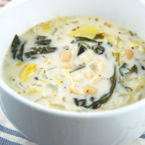 Spinach, Artichoke, and White Bean Soup