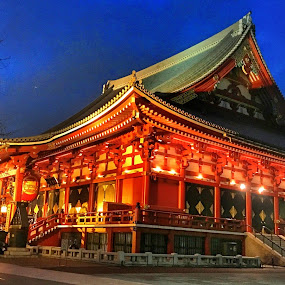 Temple in Nikko, Japan by Wan Loy Yeong - Buildings & Architecture Places of Worship ( temple, red, japan, twilight, architectural, architecture, historic, nikko,  )