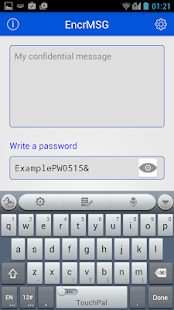 EncrMSG - Message Encrypter - screenshot