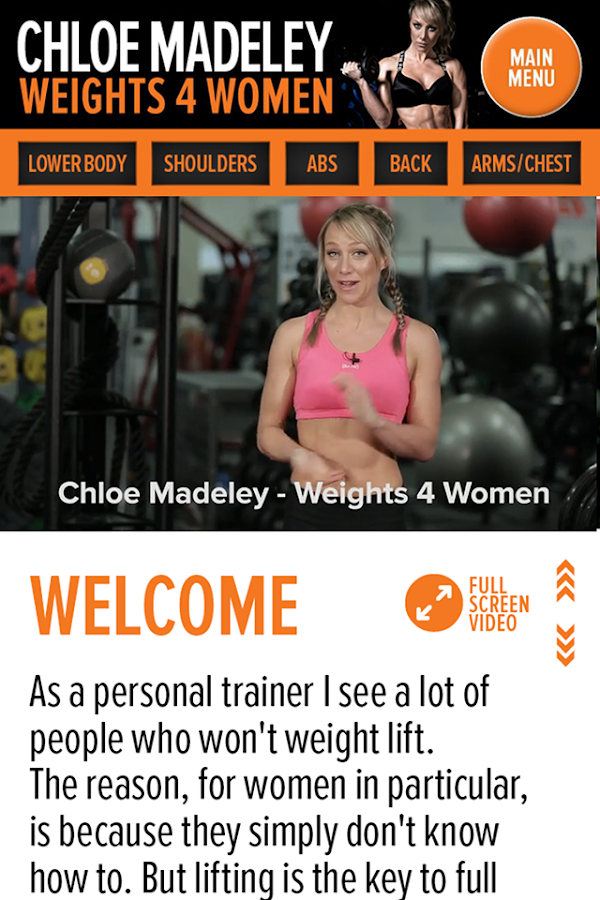 Chloe Madeley Weights 4 Women Screenshot 4