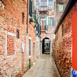 Alley of Venice by Megan Grunke - City,  Street & Park  Street Scenes ( venice, alley,  )