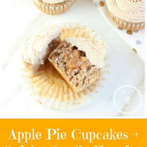 Apple Pie Cupcakes with Snickerdoodle Frosting