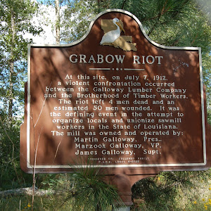 At this site, on July 7, 1912, a violent confrontation occurred between the Galloway Lumber Company and the Brotherhood of Timber Workers. The riot left 4 men dead and an estimated 50 men wounded. It ...