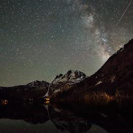 June Lake, CA by Shiva Sharifi - Landscapes Starscapes ( milkyway, dawn, night photography, nature, stars, starscapes, lakes, reflections, allshiva, night, lake, starscape, milky way, nightscape )