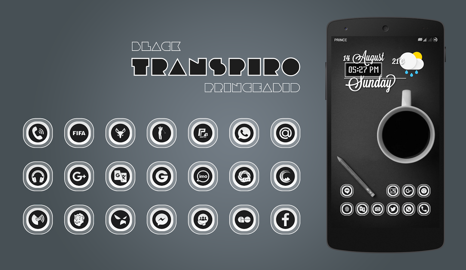 Transpiro Black Icon Pack Screenshot 3