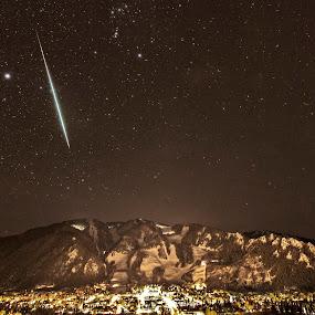 Geminid meteor shower, Aspen by Tom Cuccio - Landscapes Starscapes ( meteor shower, geminid, aspen )